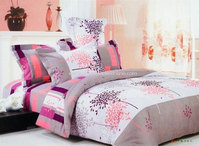 whole sale 1pcs can buy Dyeing cotton twill bedding a family of four environmental4 pcs bedding set