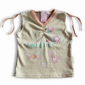 100% Cotton Baby Fashionable T-shirt, Various Colors Available