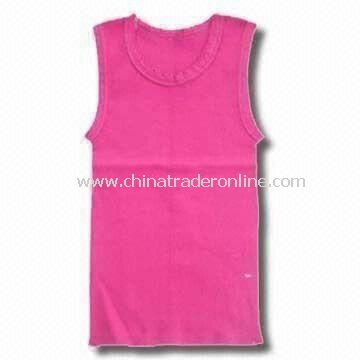 Baby T-shirt, Made of Cotton, Available in Pink Color from China