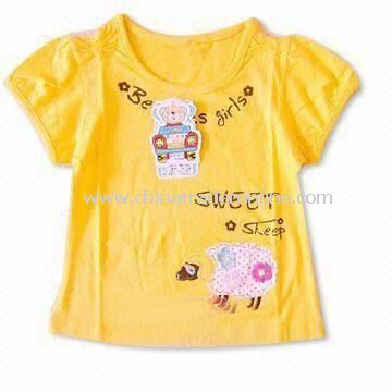 Baby T-shirt in Orange, Made of 100% Cotton, Available in Various Colors