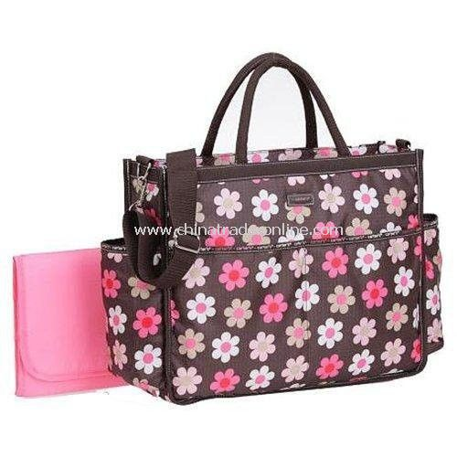 Diaper Bag Flowery Bag/Mammy Bag/Nappy Bag Include Changing Mat, Wet Bag
