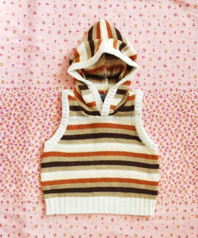 jersey/knitwear, autumn/spring Kid sleeveless sweater, waistcoat, children wear, baby thick coat