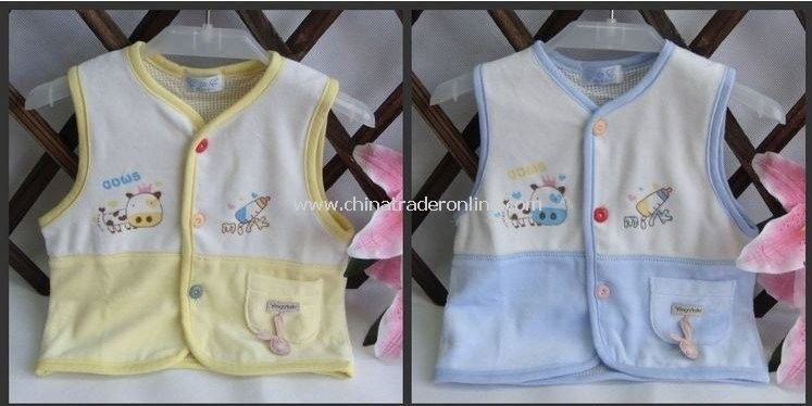 Reversible baby vest,Baby waistcoat,Baby clothes,10pcs/lot