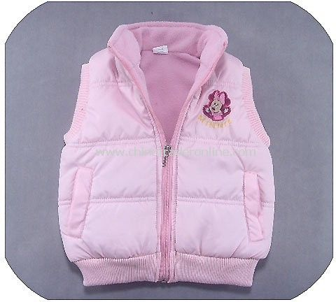 Wholesale Mikey mouse Baby bodywarmer, children waistcoat, girls padded vest, winter wear