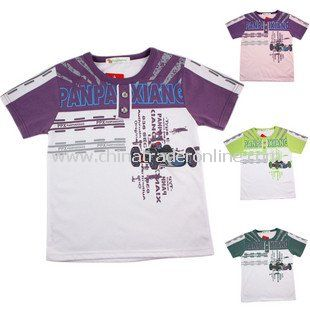 Wholesale New 100% Cotton Baby T-Shirts; Hot sale Racing Car Printed Boys T-Shirts