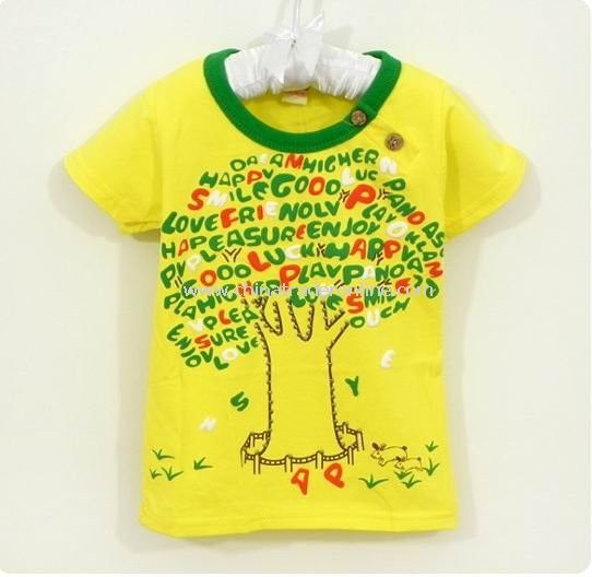 2011 New Arrival!Wholesale Cute kids shirt,children T-shirt, short sleeve shirt,baby clothes