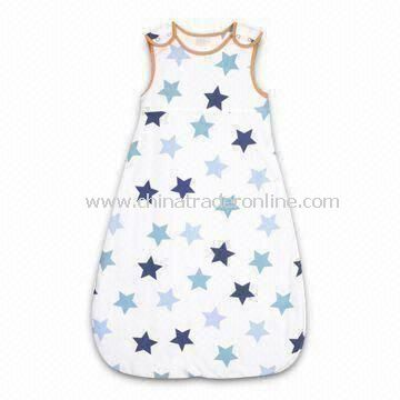 Babies Sleeping Bag, Made of 100% Cotton Shell and Lining, 140gsm Weight, with Embroidery Pattern
