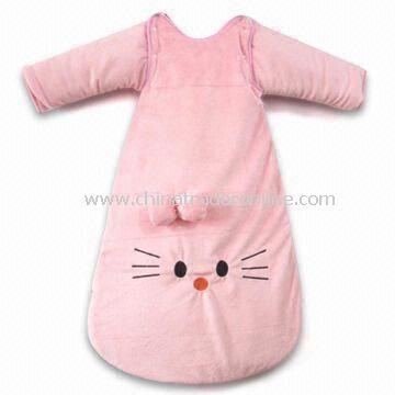 Baby Sleeping Bag, Made of Velvet, Suitable for 6 to 24-month, Available in Various Sizes