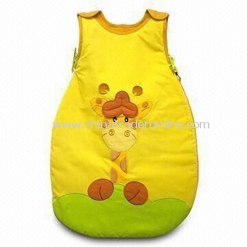 Baby Sleeping Bag with 100% Cotton Shell and Lining, Style with Love Logo, Padding 100% Polyester