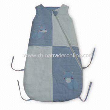Baby Sleeping Bag with Embroidery Design, 100% Cotton Material