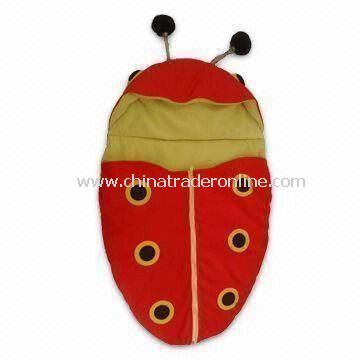 Baby Sleeping/Stroller Bag with PU Breathable Fabric and Fleece Lining, Comes in Lady Bug Design