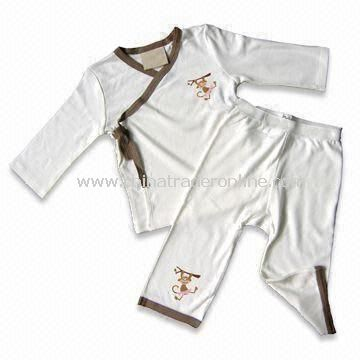 Baby Sleepwear, Made of 100% Bamboo, Suitable for 0 to 24 Months Baby, Available in Various Colors from China