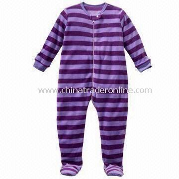 Baby Sleepwear, Made of 100% Cotton, with All Over Stripes