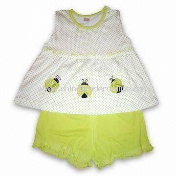 Baby Sleepwear, Made of 100% Cotton Jersey, Different Colors are Available