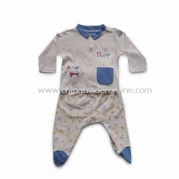 Baby Sleepwear, Made of 60g Sing Jersey Cotton, Available in Various Designs from China