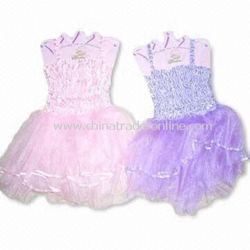 Girls Tutu Skirts with Top, Made of 100% Polyester, Available in Sizes of S and M