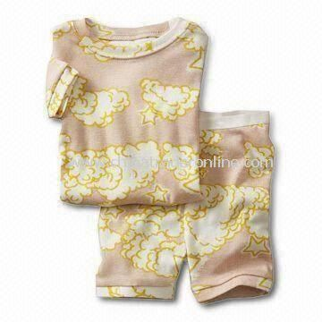 Interlock Baby Sleepwear with All Over Printing, Made of 100% Cotton
