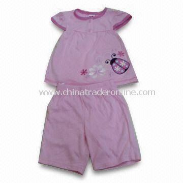 Toddlers Sleepwear, Comfortable, Available in Various Sizes and Colors, Two Plastic Buttons on Neck from China