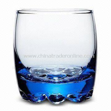 Beaded Rocks Glass with 195mL Capacity, Measures 6.8 x 7.35 x 8cm