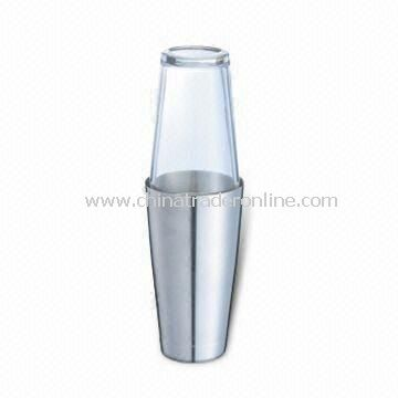 Boston Shaker with Glass or Plastic Top Cover and 700mL Capacity