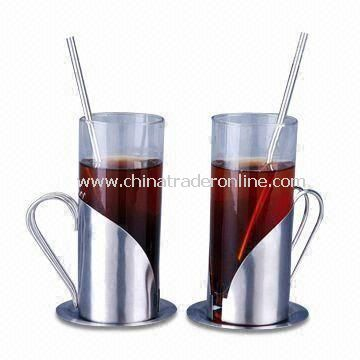 Coffee Mugs with 280ml Capacity, Made of Glass