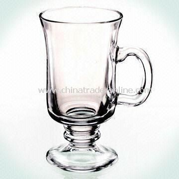 Glass Coffee Mug with 8oz Capacity, Customized Logos or Designs are Welcome