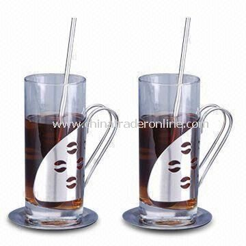 Irish Coffee Mugs, Available in Capacity of 280ml, Made of Glass