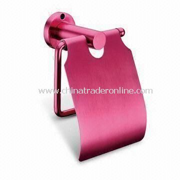Aluminum Alloy Paper Holder, Used as Bathroom Accessory, Available in Various Finishes