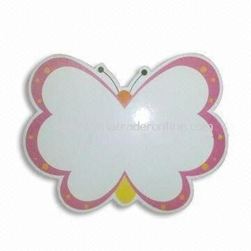 Butterfly-shaped Memo Board, Made of 0.5mm Soft Magnet with 200g Chrome Paper