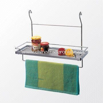 Chrome-plated Spices and Towel Rack, Measuring 450 x 185 x 280mm