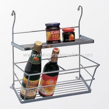 Chrome-plated Spices Rack with Sturdy Structure