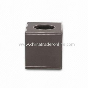 Leather Tissue Box Cover, Napkin Box with Paper Towel Box Series, PU Leather Holder from China