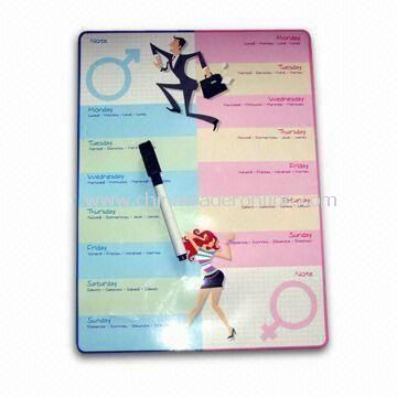 Memo Board in Elegant Style, with 0.5mm Soft Magnet and 200g Chrome Paper