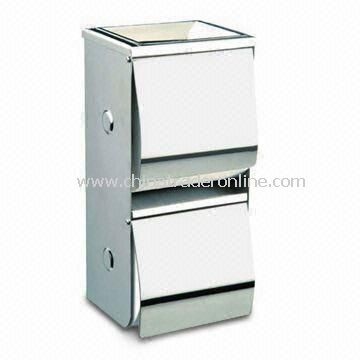 Paper Holder with Ashtray, Made of Stainless Steel, Measures 265 x 125 x 100mm from China