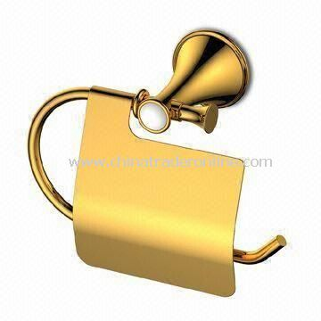 Paper Towel Holder, Bathroom Sets, Made of Brass Material, Gold Finish from China