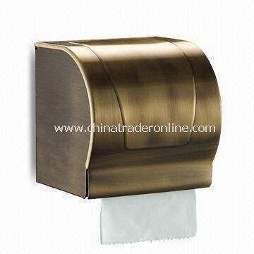 Paper Towel Holder, Made of Aluminum with Bronze Plating, Measures 125 x 125 x 130mm