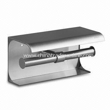 Paper Towel Holder with Satin Surface Finish, Made of AISI304 Stainless Steel