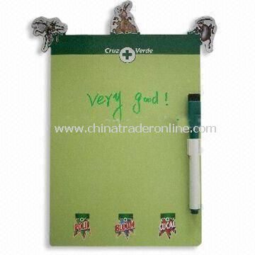 Refrigerator Magnetic Memo Board, Made of 157gsm Art paper, Suitable for Promotional Purposes