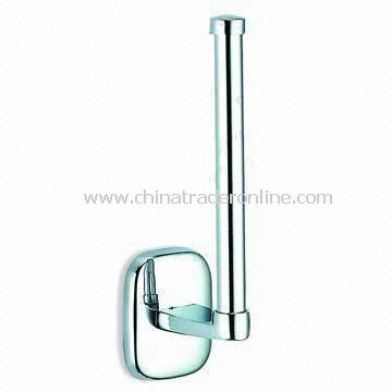 Spare Paper Towel Holder with Chrome Finish, Made of Zinc Alloy, Suitable for Bathroom Use from China