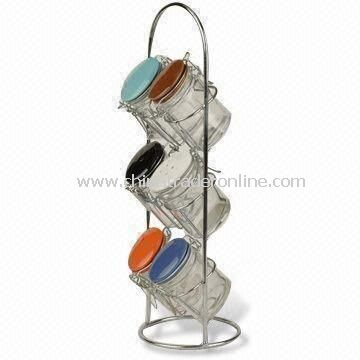 Spice Rack, Measures 5.8 x 4.3 x 10.2cm, Available in Various Cap Colors