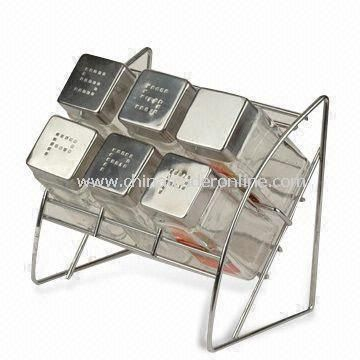 Spice Racks, Measures 4.5 x 4.5 x 9.4cm, Made of Glass
