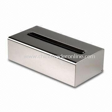 Tissue Dispenser with Polish or Satin Surface Finished, Measures 260 x 135 x 81mm