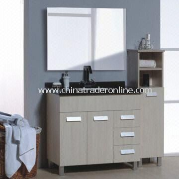 870 x 465 x 830mm Bath Vanity, Made of Melamine, Combined with Basin, Mirror, Faucet and Countertop