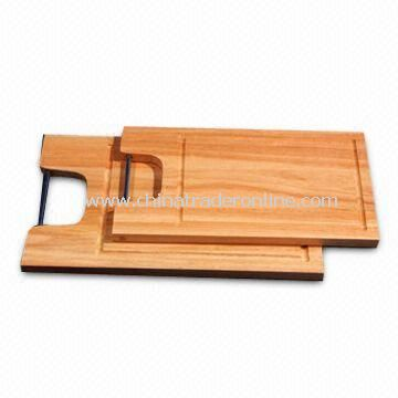 Rectangle Cutting Boards with Rod for Hanging, Available in Wooden Material