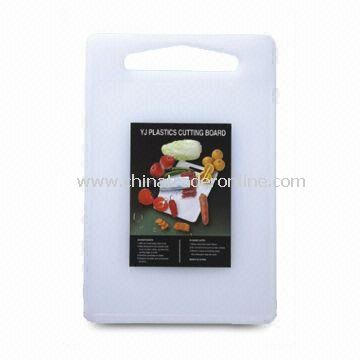 Rectangle Plastic Cutting Board with Hole for Easy Handling and Hanging