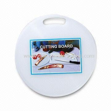 Round Shaped Plastic Cutting Board, Size of 31 x 0.6cm