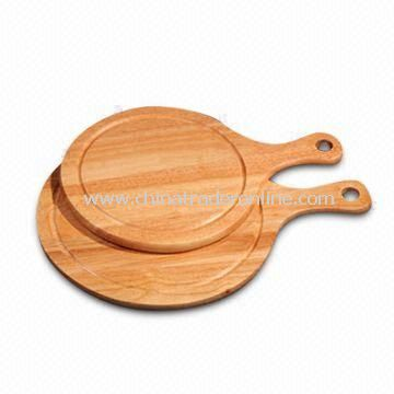 Wooden Cutting Boards with Groove and Handle, Available in Different Sizes