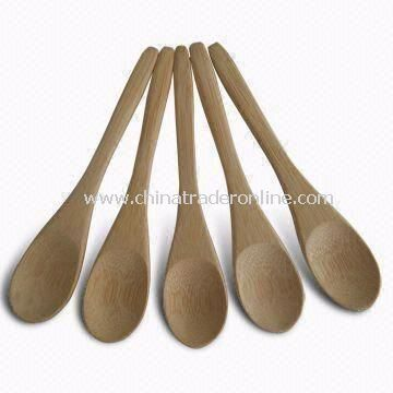 Bamboo Coffee/Tea Spoons with 12.7cm Long, OEM Orders are Welcome, High Durability