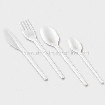 Disposable Cutlery, Includes Knife, Fork, Spoon, and Coffee Spoon, Made of Plastic