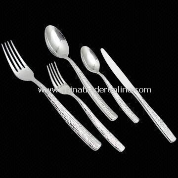 Hot Forged Flatware, Includes Dinner Knife/Spoon/Fork, Teaspoon, and Cake Fork from China